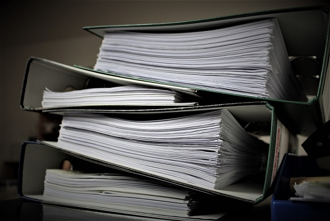 An audit can mean lots of paperwork